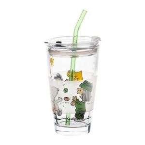 450ml High Borosilicate Measuring Glass Cup With Straw For Home