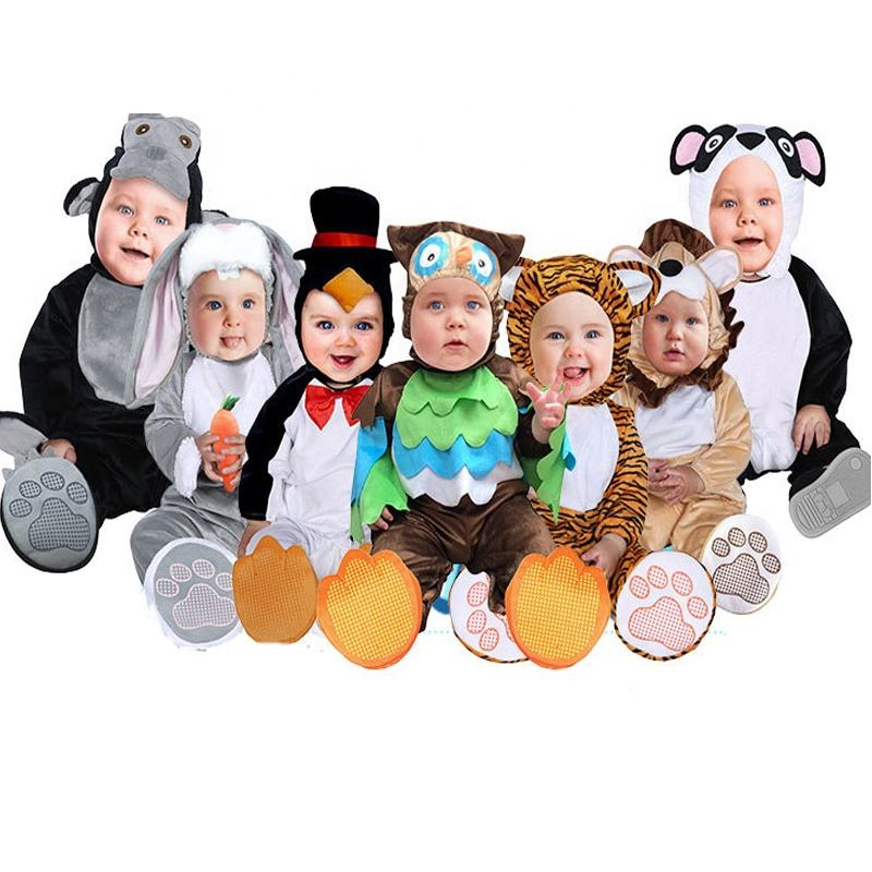 Neue Ankunft Baby Lions, Eulen, penguins Strampler Party <span class=keywords><strong>Tier</strong></span> Halloween Kostüm Für Baby