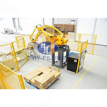 semi automatic robot small palletizer for rice bag beverag crate feed palletizer