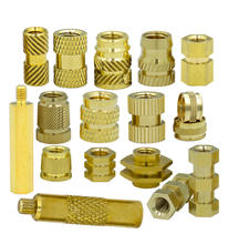 various size fastener hex threading lock RIVET flange brass copper knurled insert nut