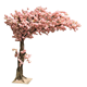 Customize artificial plant flower branches cherry blossom tree, artifical sakura wedding trees white