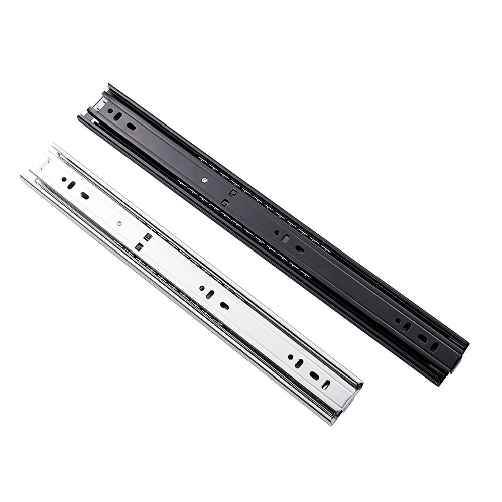 Zinc Telescopic Rail Patented Product High Quality 45mm Rainbow Telescopic Channel/Double Zinc Drawer Slide/Cabinet Rail With Foshan Shunde Quality