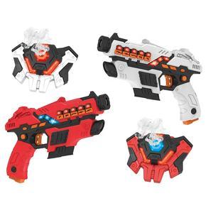 Amazon Hot Selling Shooting Game Elektrische Pistool Speelgoed Set Vesten Tag Infrarood Laser Gun Voor 2 Spelers