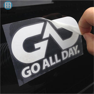 UV resistant outdoor durable custom self adhesive car body decals, custom car window decal