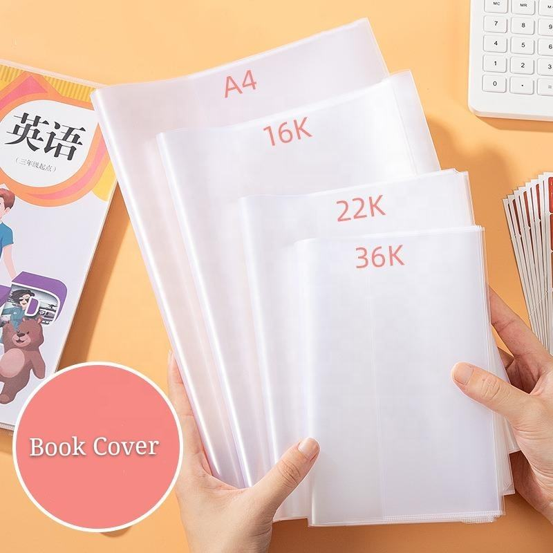 Wholesale Waterproof Transparent PP Protective Sleeve Book Cover Adjustable