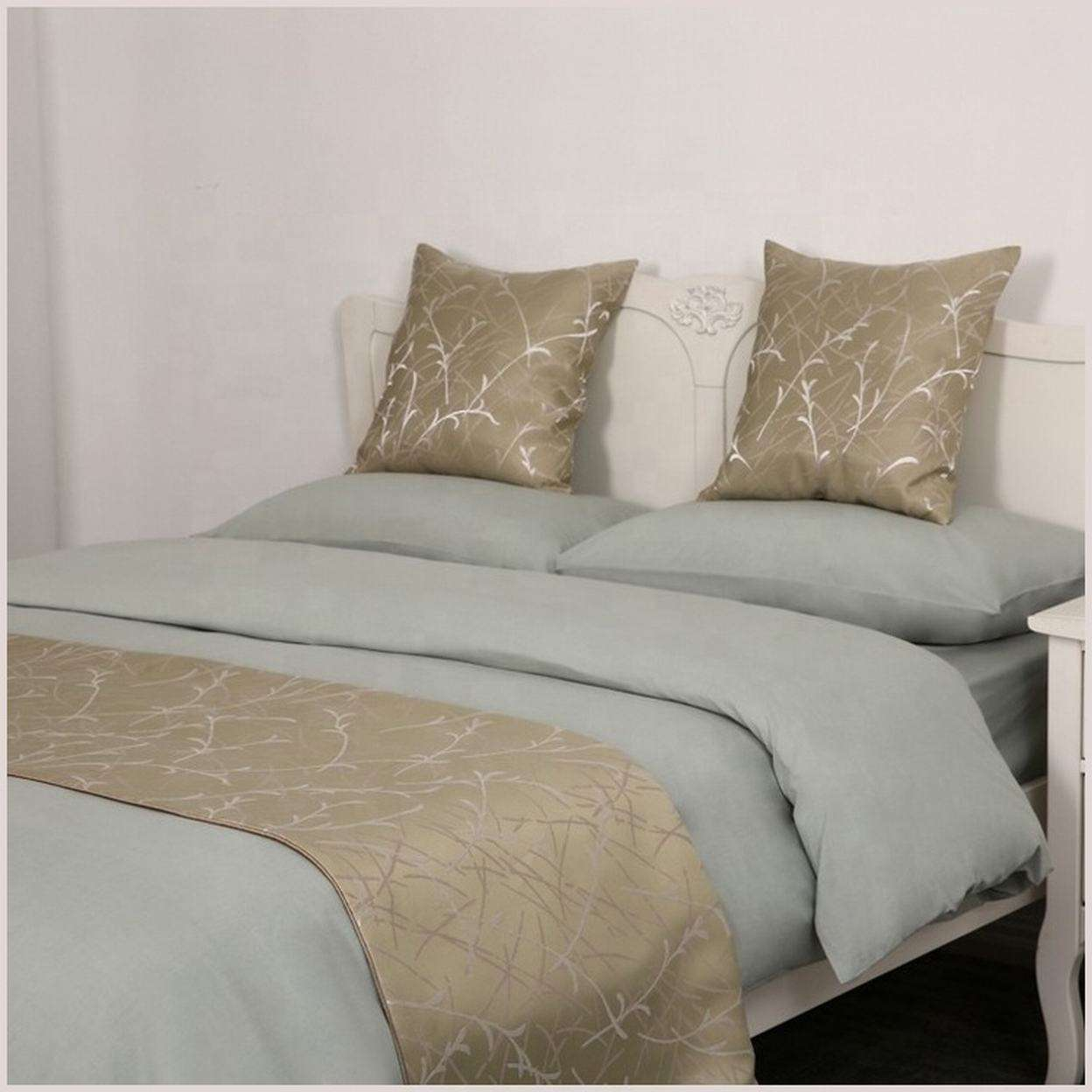 Allbright Luxury hotel decorative bed side size of queen hotel bed runner and cushions