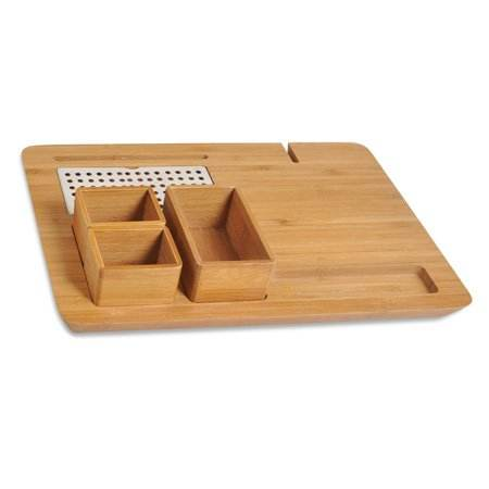 Hotel bamboo welcome tray /bamboo serving tray set/ kettle tray in hotel room