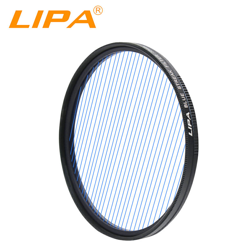 LIPA Streak Filter for camera lens streak blue red orange purple filter 49-82mm