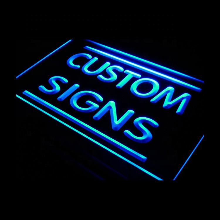 Bar custom made open led acrylic decor custom neon signs