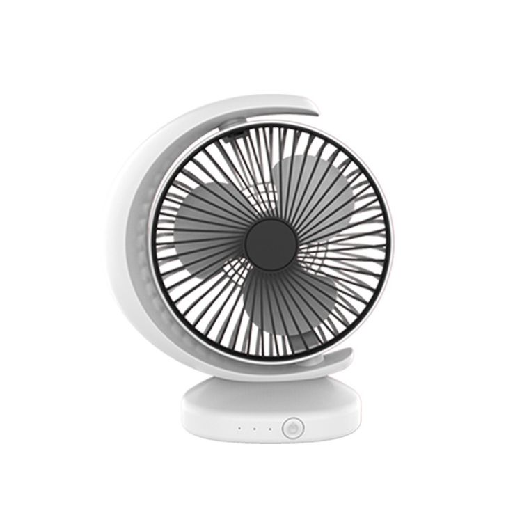 High Quality Drop shipping Portable Mini Recirculating Wind Mute USB Desktop Fan with 3 Speed Control (White)