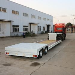 Hot selling 2 axle hydraulic gooseneck  low bed extendable  platform semi trailer