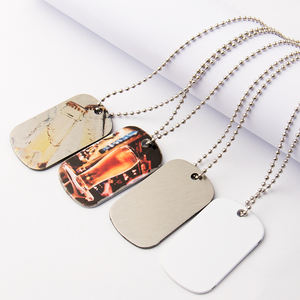Manufacturer Wholesale Double-Sided Customized Dog Tags Blanks Sublimation Printable Pendant Dog Tag