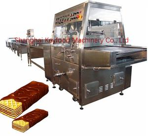 Automatic Chocolate Enrobing Biscuit Making Machine Used for Food Factory