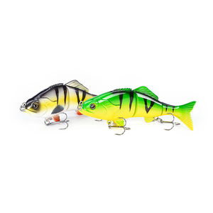 LVDE Brand 6inch 47g Metal Joint Hard Plastic Bait Perch Pike Musky Trout Fishing Lure