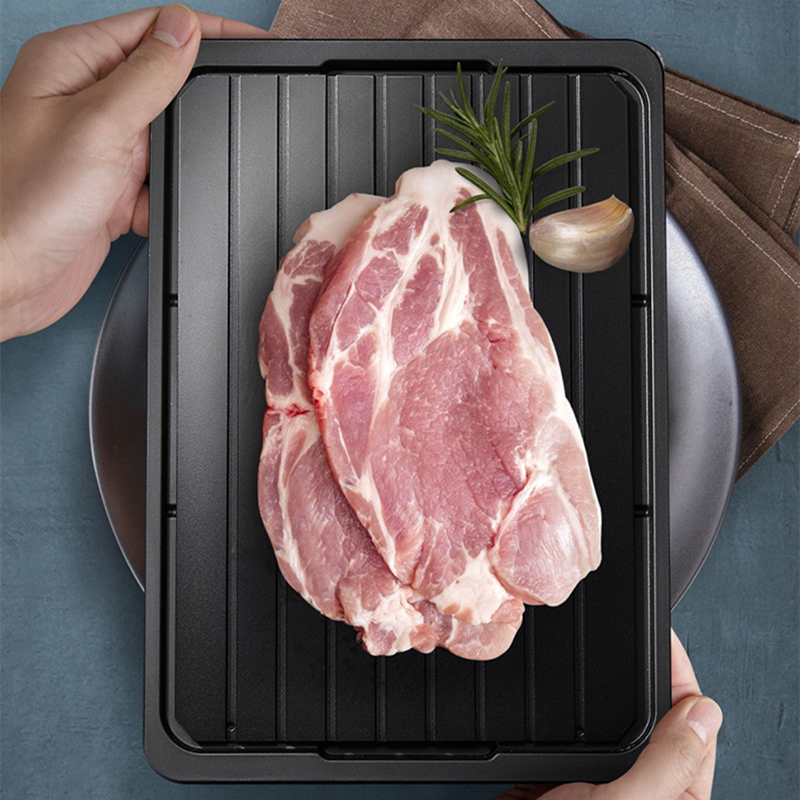 Fast magic defrosting tray thawing 6mm defrost with drip pan