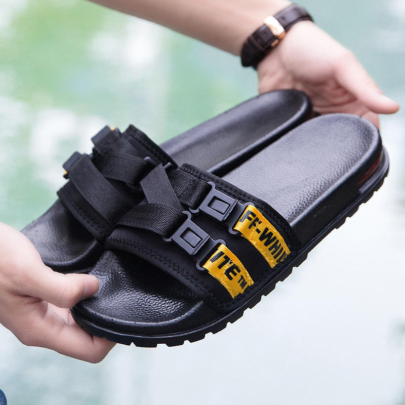 Anti-slip Air Cushion Outsole Slippers Rubber Men's Sandals beach shoes sandals
