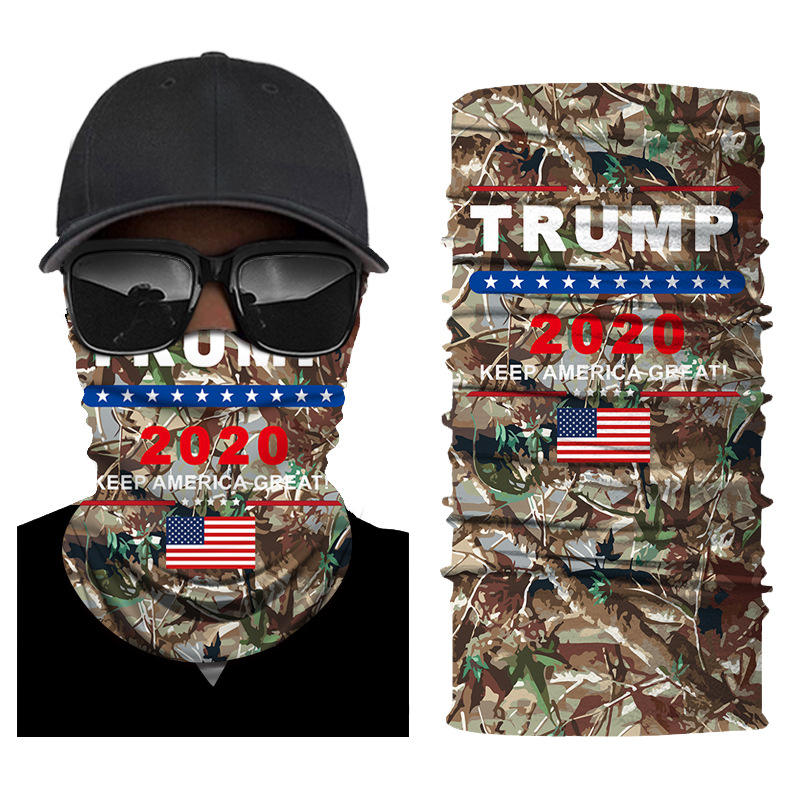Wholesale Custom Trump Biden Bandanas 2020 Outdoor Headwear Facemasks Bandana