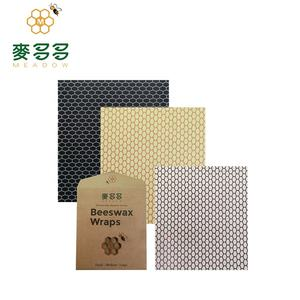 Customized wholesale 100% cotton recycled beeswax storage food wraps