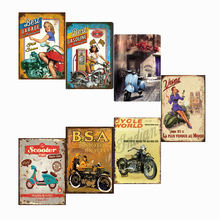 Motorcycle Metal Sign Retro Tin Sign Plaque Metal Vintage Wall Decor for Garage Bar Pub Man Cave Iron Painting metal sign