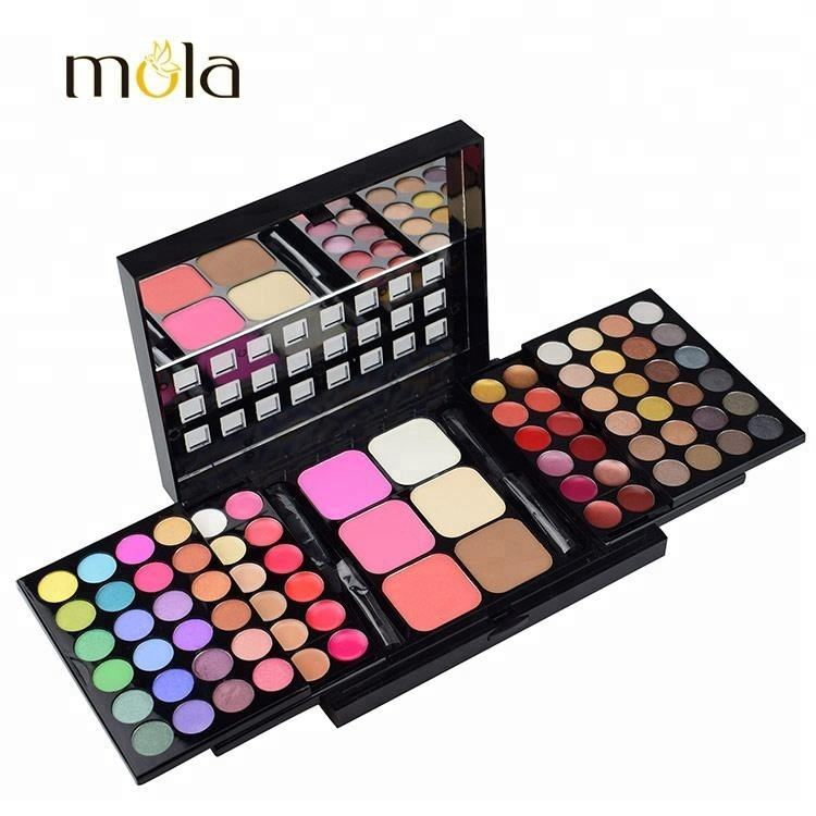 78 Pro Warm Colors Matte Shimmer Eyeshadow packaging Palette Cosmetic Makeup Brush Kit Set