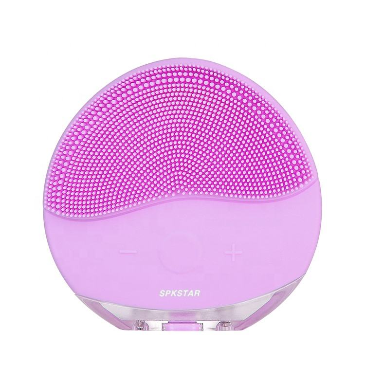Waterproof Face Pore Deep Cleanser Wireless Sonic Vibration Silicone Mini Electric Facial Cleaning Massage Brush