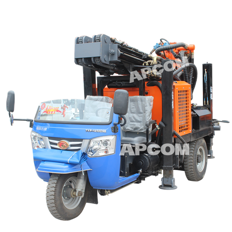 Trailer Tractor Truck mounted water well drilling rigs Manufacturer Price Rock Machine Borehole DTH Water Well Drilling Rig