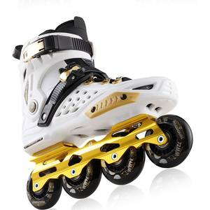 Outdoor Adjustable PU Wear Resistant Wheel Professional Flashing Roller Skate Shoes for Kids and Adults