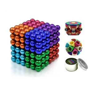 216 pcs 3mm 5mm 8mm color sphere magnet toy buckyballs magnetic balls for kids