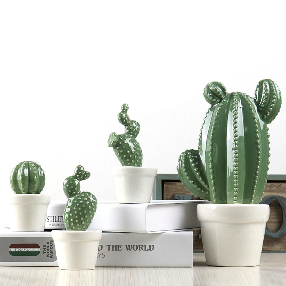 High quality ceramic cactus for home decor with cheap price