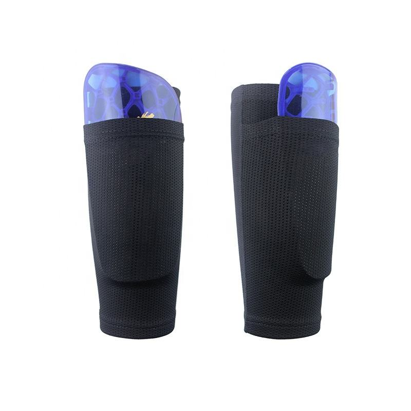 Wholesale shin guard sock football soccer shin guard socks with pocket