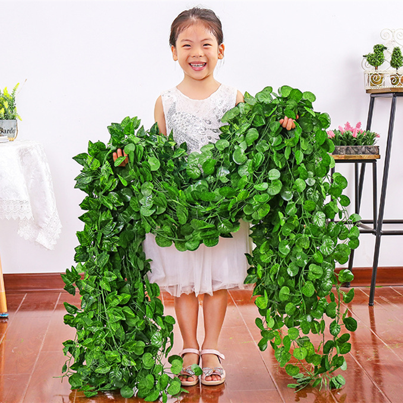 Hot Selling Decorative Hanging Artificial Ivy Vine Leaves Garland Vine From China