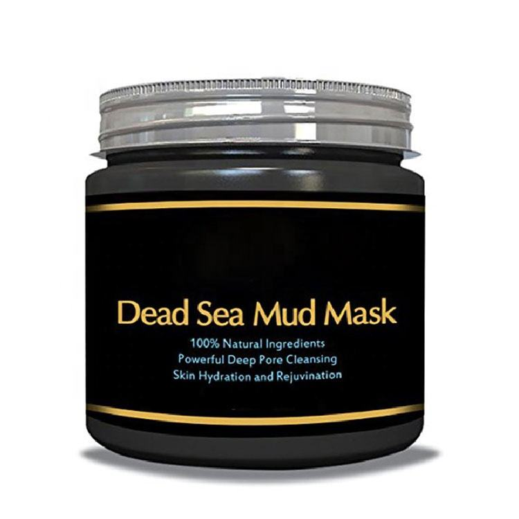 oem professional factory natural black mask deep cleaning private label dead sea mud mask