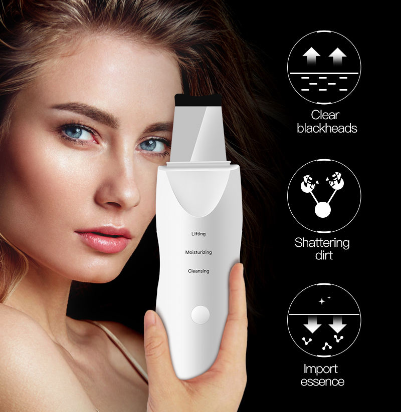Ultrasonic Skin Scrubber Deep Facial Cleaning Machine Removal Dirt Blackhead face ultrasonic skin scrubber machine