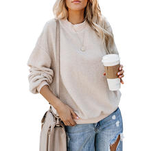 Cashmere Long Sleeve Solid Color Casual Hoody Sweatshirt