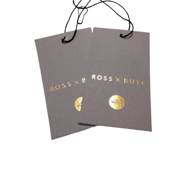 Luxury clothing shoes retail hand embossed paper hang tag