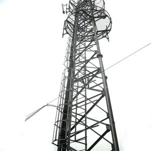 HDG Steel Monopole Cell Phone Tower Tubular Telecommunication Pole Mobile Tower