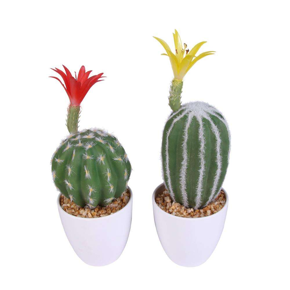 Vivid home decoration ceramic bonsai succulent artificial cactus plants for wholesale