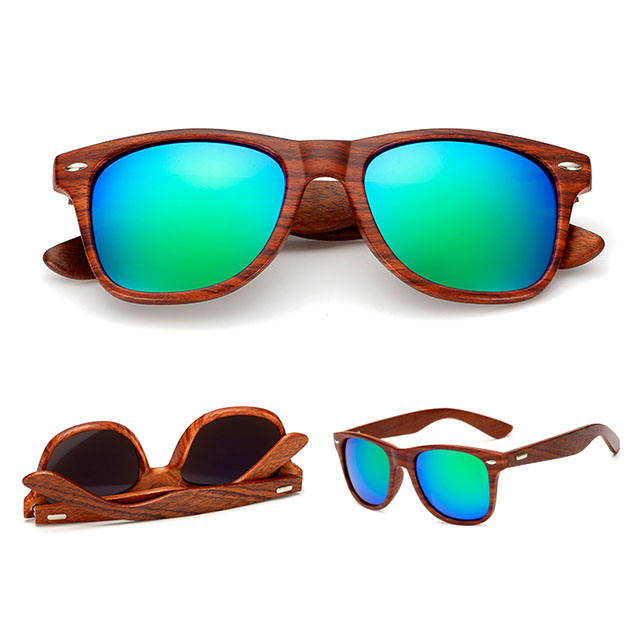 DLC9009 In Stock high quality oem wooden custom sunglasses with wood grain printing fashion UV400