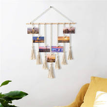 Bohemian Decor Wall Photo Display Macrame Wall Hanging