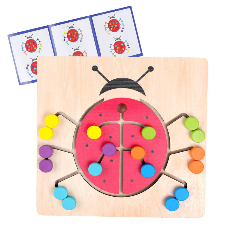 2020 education toy Color matching ladybug walking maze game exercise your kids practical ability