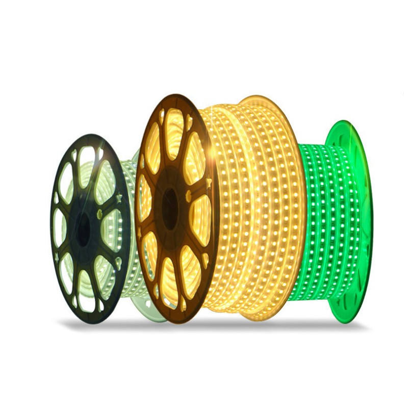 High Voltage Outdoor 110v 220v SMD 5050 Single Color RGB Led Strip Light 50メートル/ロール100m/ロール