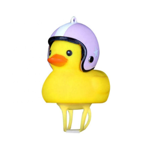 Children's Bicycle Helmet Motorcycle Horn Light luminous flash Bamboo small yellow duck
