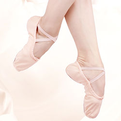 Canvas Ballet Flat Shoes Kids Ballet Slippers Leather Suede Soft Sole Woman Dance Shoes Girls