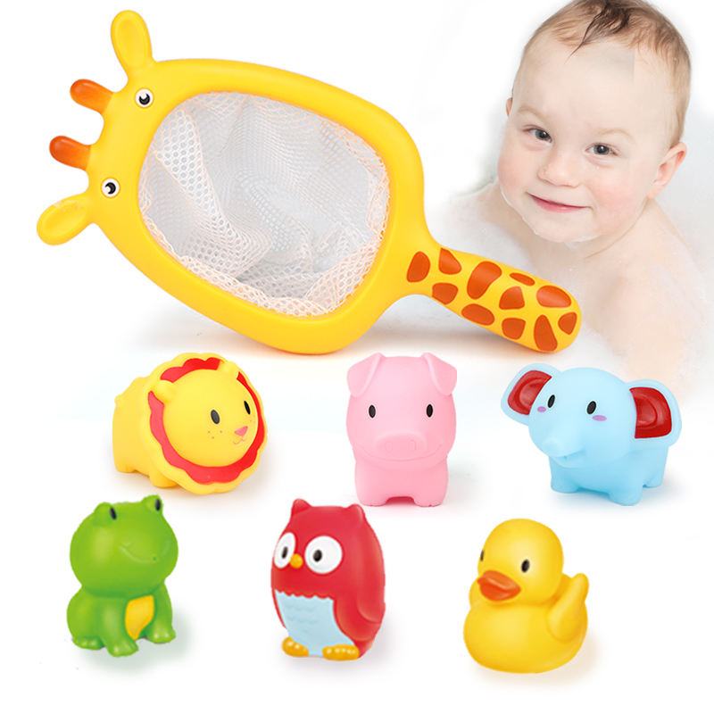 Baby Bath Toys Cartoon Animals Kids Bathtub Squirts Toys Bathtime Fun Learning & Education Toys for Toddlers