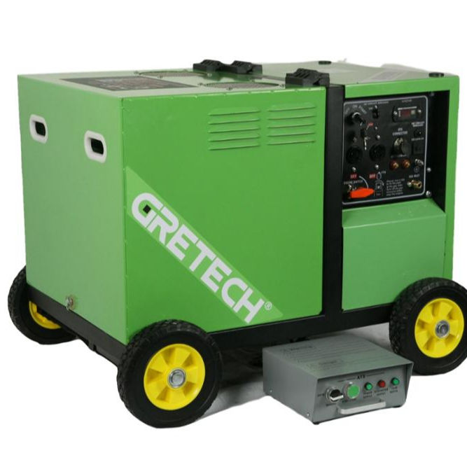 Gretech 5kva silent lpg generator home standby whole house generator with steady power output and clean emission