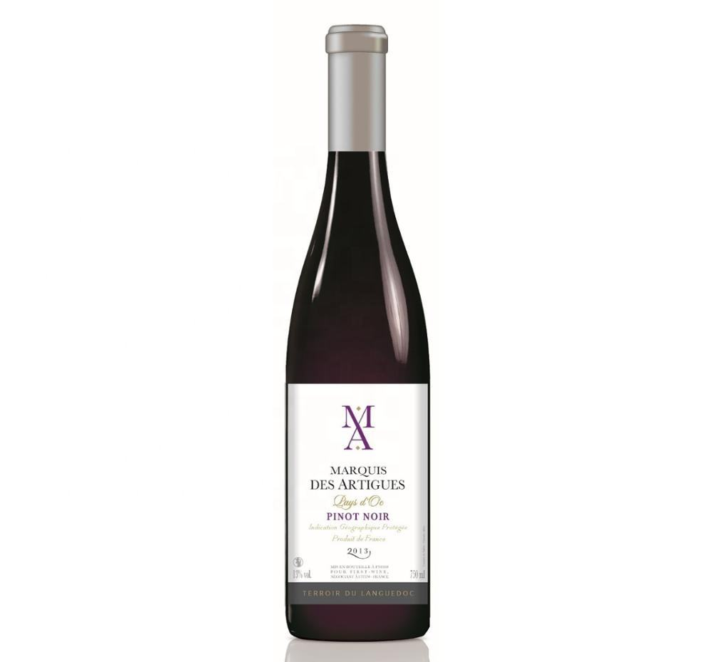 Marquis des Artigues Pinot Noir red IGP PAYS D OC High quality red wine from France modern label