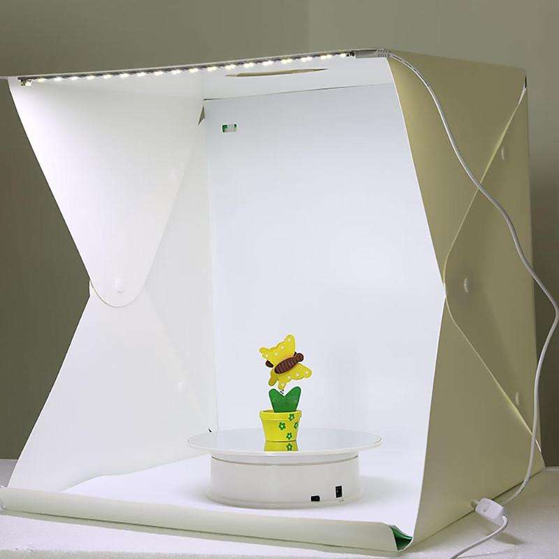 USB Lighted Folding LED Lightbox Photo Mini Desktop Studio Portable Photography Studio 20センチメートル/30センチメートル/40センチメートル