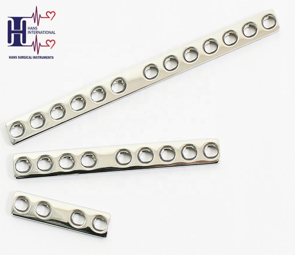Dynamic Compression Mini Plate 2.0mm Diameter Screw Stainless Steel 316L High Quality Bone Plate Orthopedic Implants