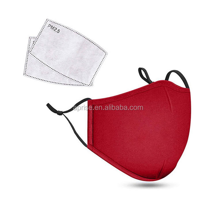 Red Protective Pollution with Filter Adjustable Adult Fanatics Face Covering dustmask Washable