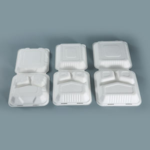 biodegradable sustainable sugarcane disposable bagasse food container